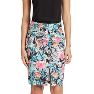 Guess Floral Pencil Skirt